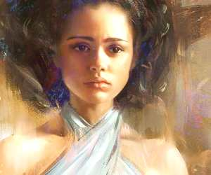 Missandei painting by Aleksei Vinogradov