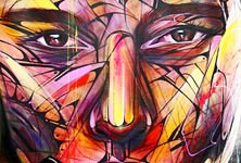 Canvas in progress acryl painting by Alex Hopare