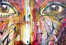 Face a face detail 2 streetart by Alex Hopare
