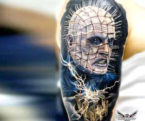 Hellraiser tattoo by Alexander Romashev