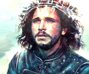 Jon Snow in a Crown digitalart by Alice X Zhang