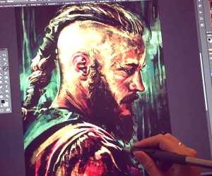 Ragnar digitalart by Alice X Zhang