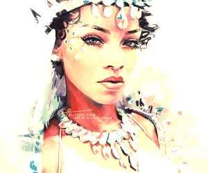 Rihanna digitalart by Alice X Zhang