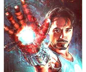 Tony Stark digitalart by Alice X Zhang