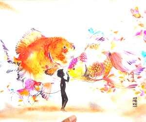 See You Again watercolor painting by Art Jongkie