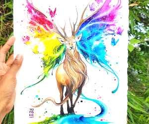 Spectrum of Life watercolor painting by Art Jongkie