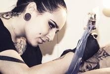 Bambi at work tattoo by Bambi Tattoo