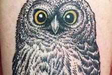 Owl 2 tattoo by Bambi Tattoo