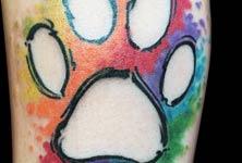 Paw tattoo by Bambi Tattoo