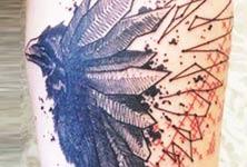 Raven tattoo by Bambi Tattoo