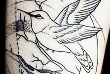 Sparrows dotwork tattoo by Bambi Tattoo