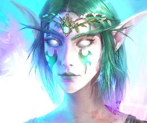 Night Elf digitalart by Bella Bergolts