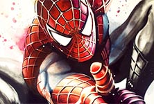 Amazing Spiderman oil painting by Ben Jeffery