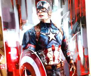 Captain America painting by Ben Jeffery