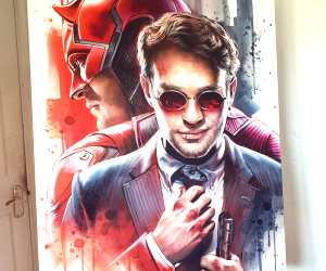 Daredevil oil painting by Ben Jeffery
