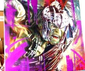 Hulk oil painting by Ben Jeffery