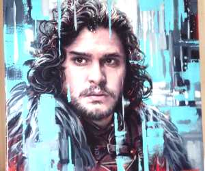 Jon Snow painting by Ben Jeffery