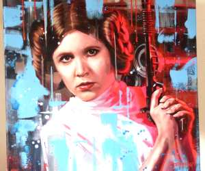 Princess Leia oil painting by Ben Jeffery