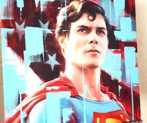 Superman oil painting by Ben Jeffery