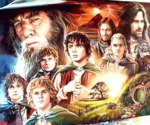 The Fellowship of the Ring oil painting by Ben Jeffery