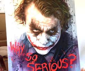 Why so Serious oil painting by Ben Jeffery