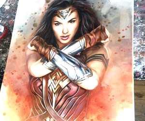 Wonder Woman oil painting by Ben Jeffery