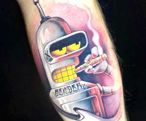 Bender tattoo by Benjamin Laukis