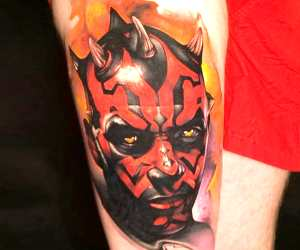 Darth Maul tattoo by Benjamin Laukis