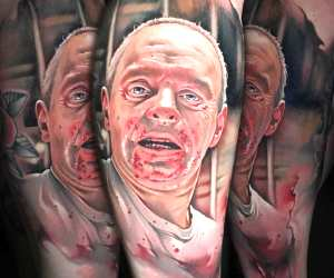 Hannibal Lecter tattoo by Benjamin Laukis