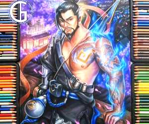 Hanzo color drawing by Blondynki Tez Graja