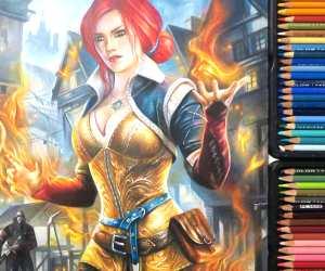 Triss Merigold drawing by Blondynki Tez Graja
