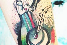 My Music tattoo by Bumpkin Tattoo