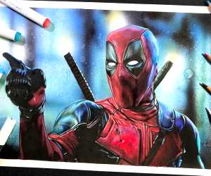 Deadpool drawing by Craig Deakes