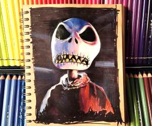 Jack Skellington drawing by Craig Deakes