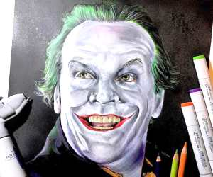 Joker drawing by Craig Deakes