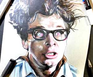 Louis Tully marker drawing by Craig Deakes