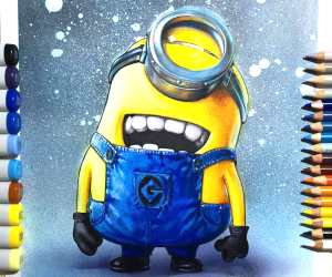 Minion color drawing by Craig Deakes