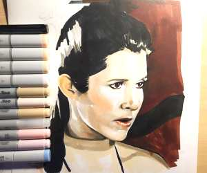 Princess Leia marker drawing by Craig Deakes