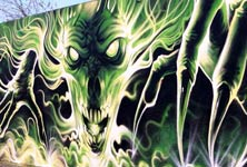 Dark Creature streetart by Dan DANK Kitchener