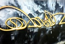 Distant Fires graffiti by Dan DANK Kitchener