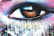 eye graffiti by Dan DANK Kitchener
