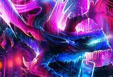 Light dragon painting by Dan DANK Kitchener