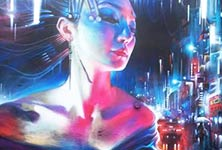 The Queen Of Neon streetart by Dan DANK Kitchener