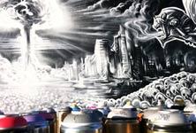 Tools of destruction streetart by Dan DANK Kitchener