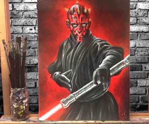 Darth Maul oil painting by Elienka Art