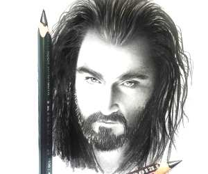 Thorin pencil drawing by Elienka Art