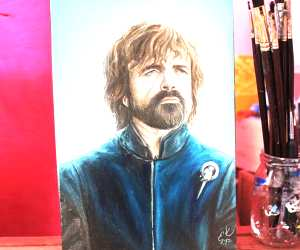Tyrion Lannister oil painting by Elienka Art