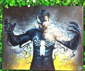 Venom painting by Elienka Art
