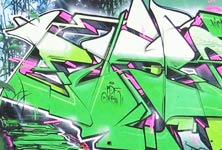 Graffiti with nature graffiti by Fhero Art
