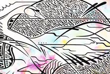 Swan pen drawing by Frantisek Radacovsky